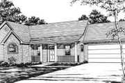 Ranch Style House Plan - 3 Beds 2 Baths 1343 Sq/Ft Plan #30-131 Exterior - Front Elevation