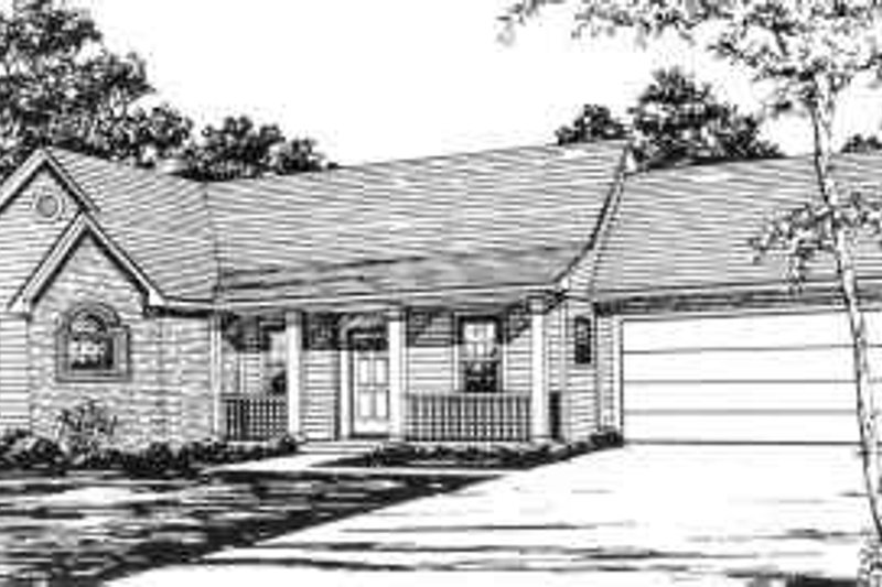 Ranch Style House Plan - 3 Beds 2 Baths 1343 Sq/Ft Plan #30-131
