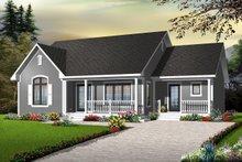 Cottage Exterior - Front Elevation Plan #23-2279