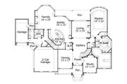 Traditional Style House Plan - 5 Beds 4.5 Baths 5000 Sq/Ft Plan #411-814 Floor Plan - Main Floor Plan