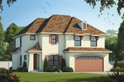 European Style House Plan - 4 Beds 2.5 Baths 2301 Sq/Ft Plan #20-2140 Exterior - Front Elevation