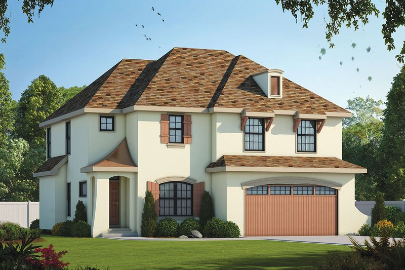 House Plan Design - European Exterior - Front Elevation Plan #20-2140