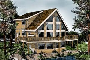 Contemporary Exterior - Front Elevation Plan #102-204