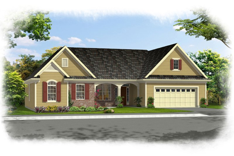 Architectural House Design - Traditional Exterior - Front Elevation Plan #46-839