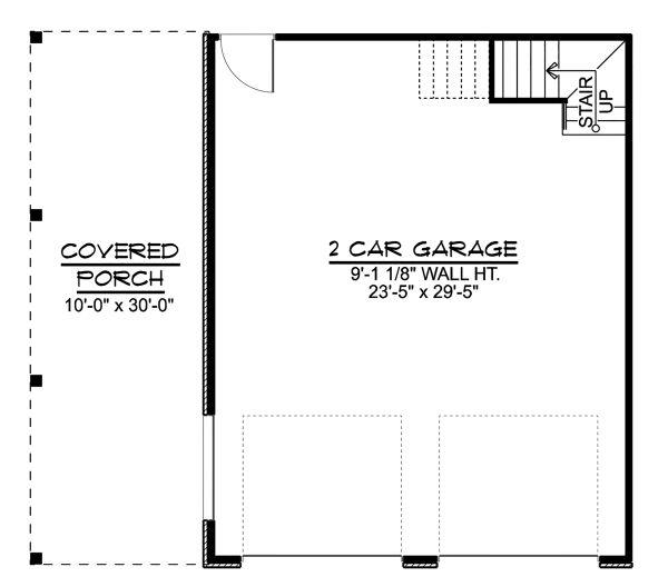 Craftsman Floor Plan - Main Floor Plan Plan #1064-16