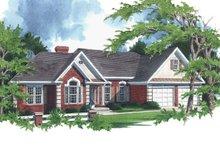 Home Plan Design - Southern Exterior - Front Elevation Plan #56-163