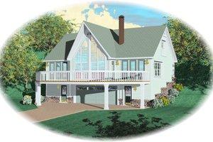 Bungalow Exterior - Front Elevation Plan #81-13871