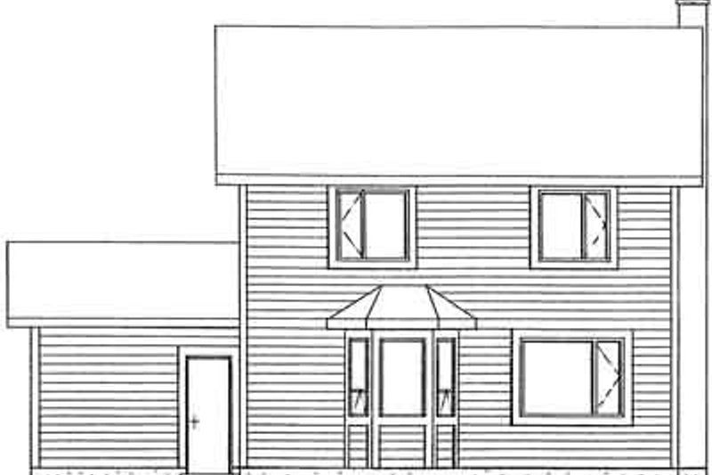 Colonial Exterior - Rear Elevation Plan #126-116 - Houseplans.com