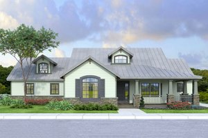 Country Exterior - Front Elevation Plan #124-984