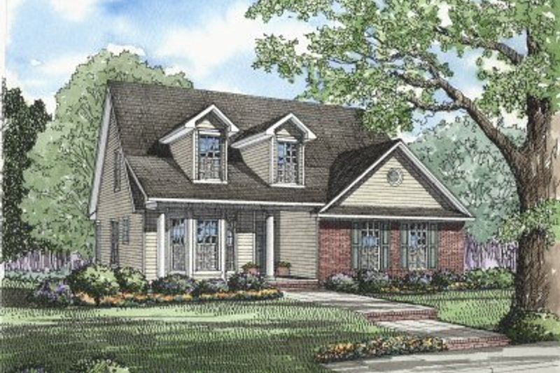 Home Plan - Southern Exterior - Front Elevation Plan #17-257