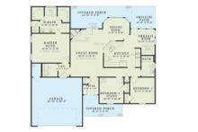 Country Floor Plan - Main Floor Plan Plan #17-2709