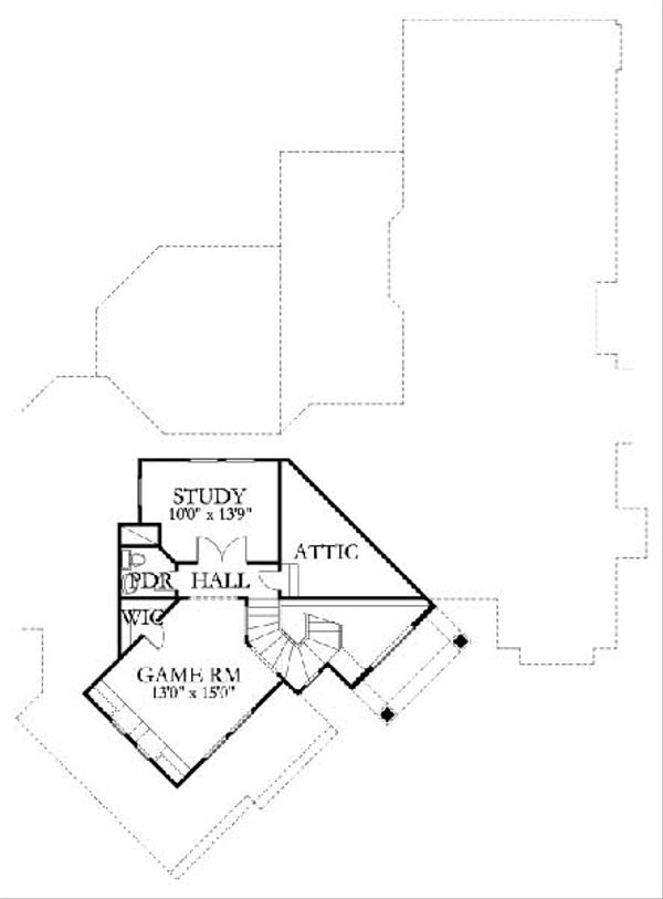Traditional Floor Plan - Upper Floor Plan #80-170