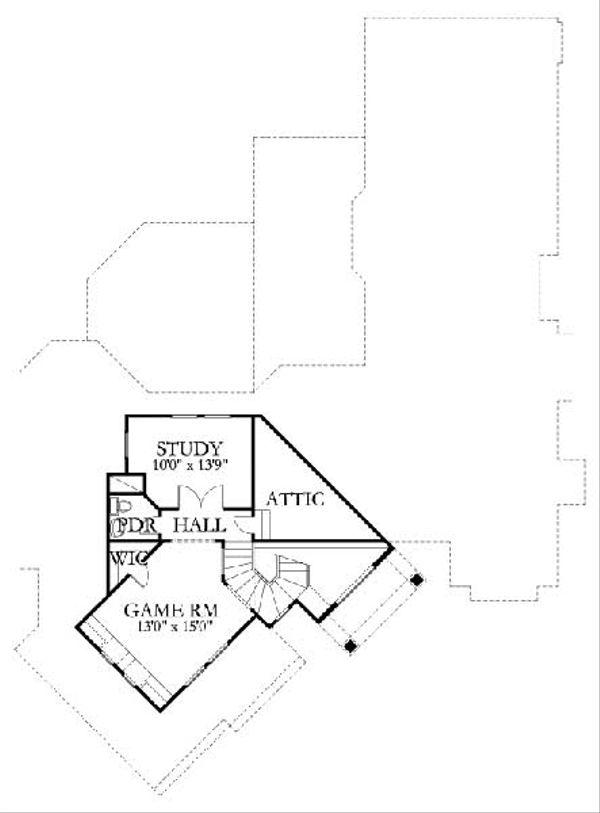 House Plan Design - Traditional Floor Plan - Upper Floor Plan #80-170