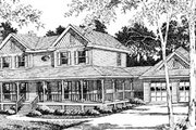 Country Style House Plan - 3 Beds 2.5 Baths 2562 Sq/Ft Plan #10-254 Exterior - Front Elevation