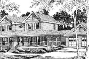 Country Exterior - Front Elevation Plan #10-254