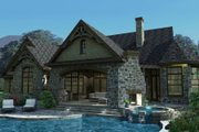 Craftsman Style House Plan - 3 Beds 2.5 Baths 2595 Sq/Ft Plan #120-165 Exterior - Rear Elevation