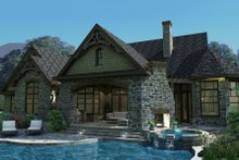 Dream House Plan - Craftsman Exterior - Rear Elevation Plan #120-165