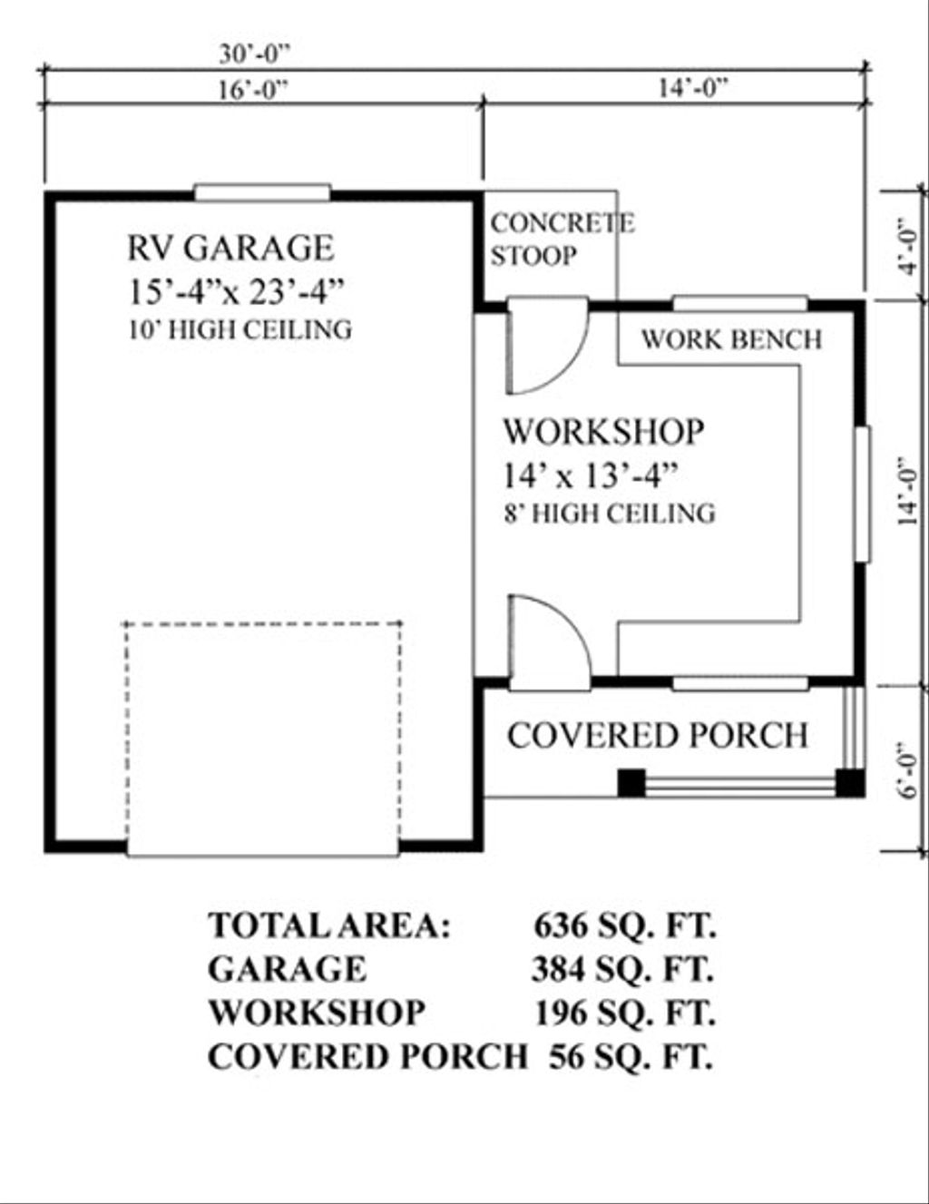 Cottage Style House Plan - 0 Beds 0 Baths 580 Sq/Ft Plan