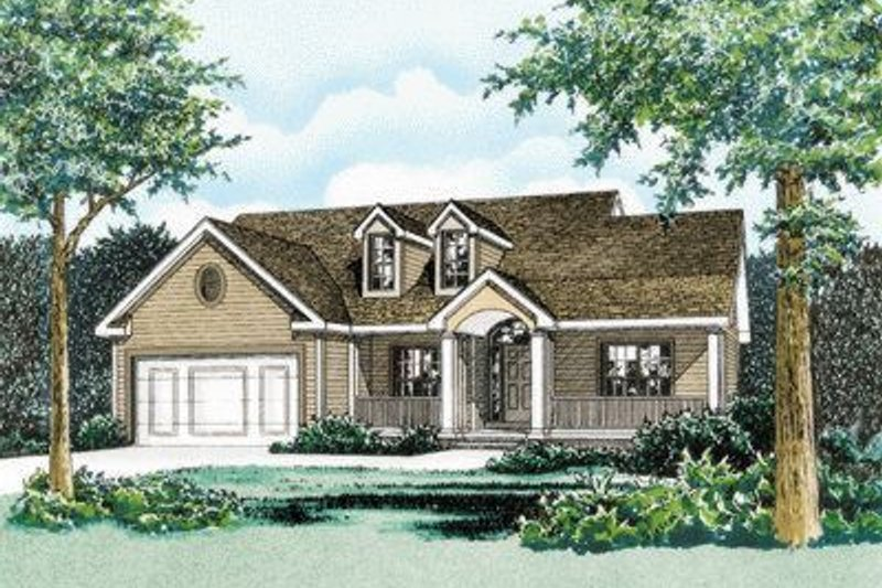 Traditional Exterior - Front Elevation Plan #20-439 - Houseplans.com