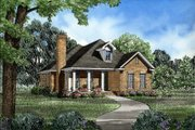 Traditional Style House Plan - 3 Beds 2 Baths 1660 Sq/Ft Plan #17-178 Exterior - Front Elevation