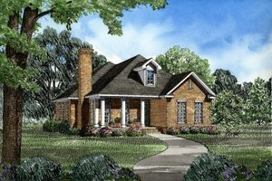 Traditional Exterior - Front Elevation Plan #17-178