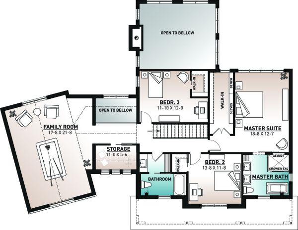 Home Plan - Farmhouse Floor Plan - Upper Floor Plan #23-2742