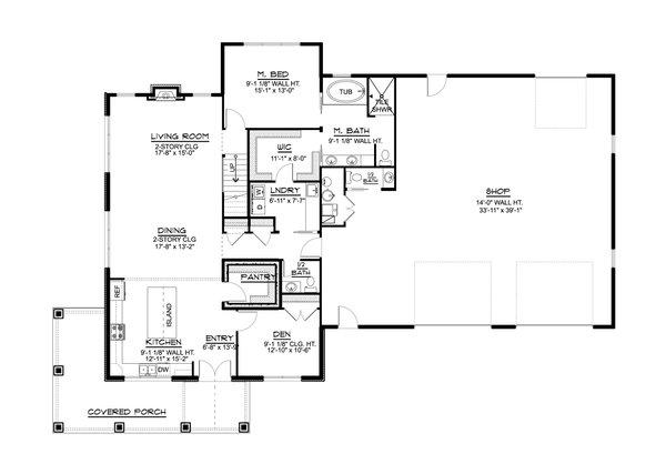 Dream House Plan - Farmhouse Floor Plan - Main Floor Plan #1064-127