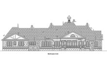 European Exterior - Rear Elevation Plan #20-2333