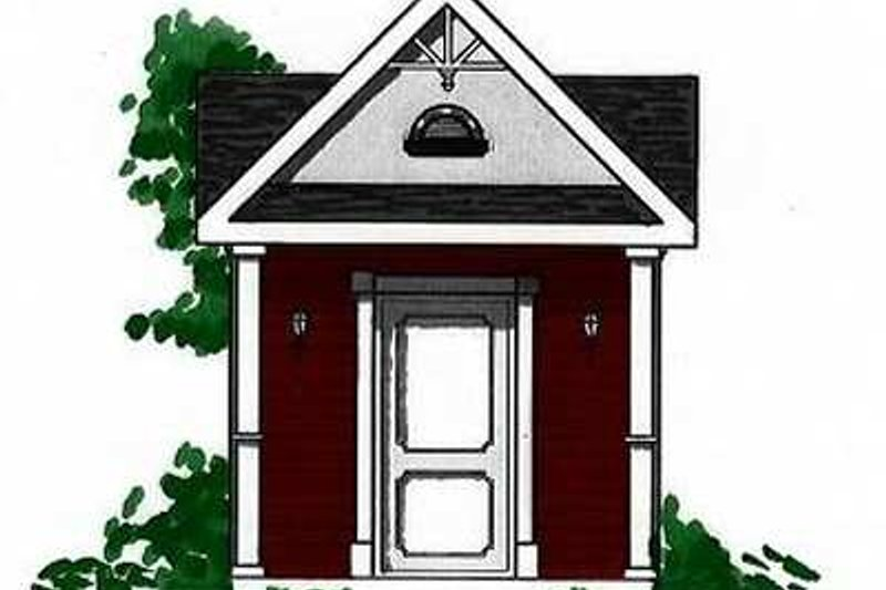 Cottage Exterior - Front Elevation Plan #23-458
