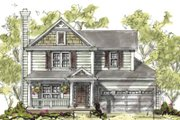 Traditional Style House Plan - 3 Beds 2.5 Baths 1634 Sq/Ft Plan #20-1216 Exterior - Front Elevation
