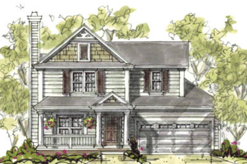 Traditional Exterior - Front Elevation Plan #20-1216 - Houseplans.com