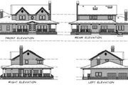 Colonial Style House Plan - 4 Beds 2.5 Baths 2462 Sq/Ft Plan #47-388 Exterior - Rear Elevation