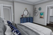 Ranch Interior - Master Bedroom Plan #1060-39