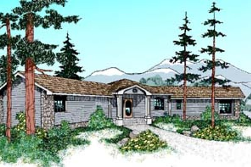 Traditional Exterior - Front Elevation Plan #60-530 - Houseplans.com