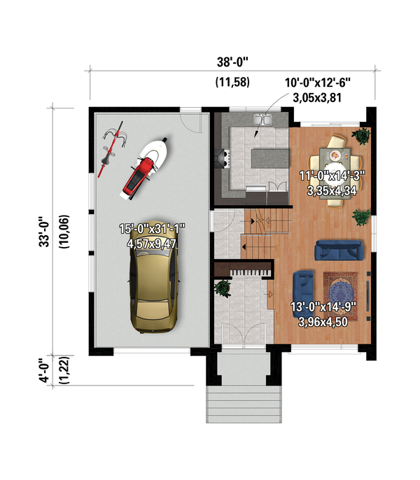 Contemporary Floor Plan - Main Floor Plan #25-4879