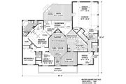Country Style House Plan - 3 Beds 3 Baths 1992 Sq/Ft Plan #56-582 Floor Plan - Main Floor Plan