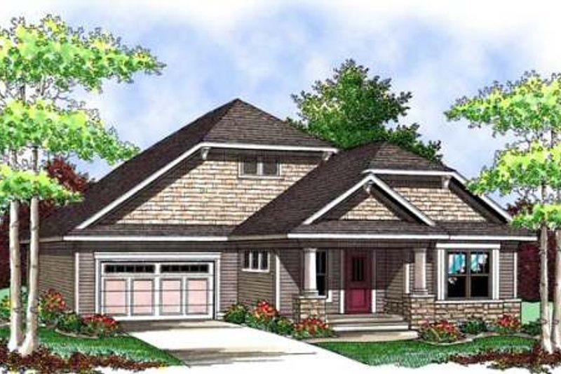 Architectural House Design - Bungalow Exterior - Front Elevation Plan #70-905