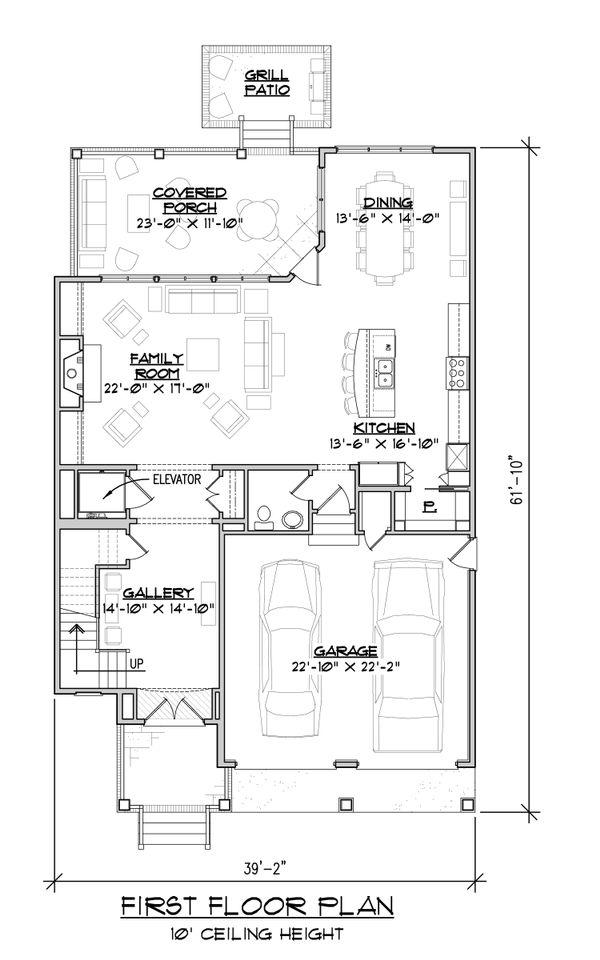 House Plan Design - Craftsman Floor Plan - Main Floor Plan #1054-33