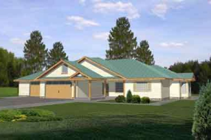 Home Plan - Traditional Exterior - Front Elevation Plan #117-278