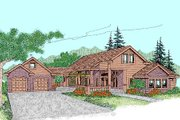 Traditional Style House Plan - 4 Beds 2 Baths 2499 Sq/Ft Plan #60-243 Exterior - Front Elevation