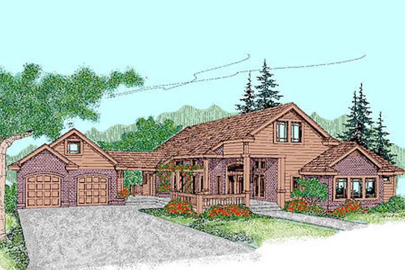 Traditional Exterior - Front Elevation Plan #60-243 - Houseplans.com