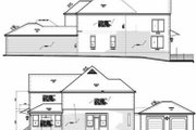European Style House Plan - 3 Beds 2.5 Baths 2980 Sq/Ft Plan #15-256 Exterior - Rear Elevation