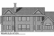 European Exterior - Rear Elevation Plan #70-537