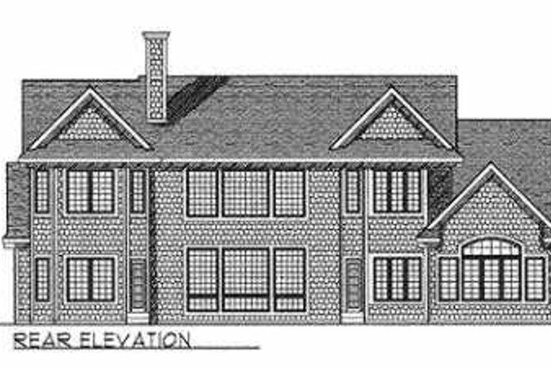 European Exterior - Rear Elevation Plan #70-537 - Houseplans.com