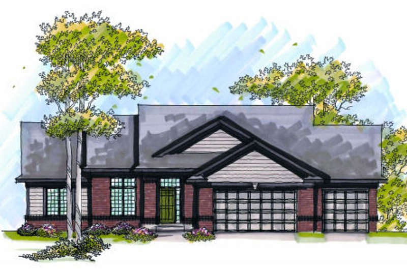 Traditional Exterior - Front Elevation Plan #70-1002 - Houseplans.com