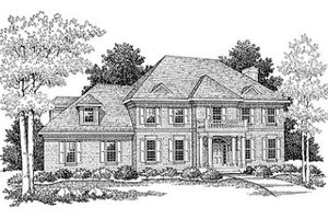 Modern Exterior - Front Elevation Plan #70-438