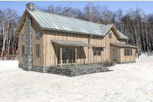 Cabin Exterior - Rear Elevation Plan #497-47