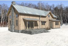 Cabin Exterior - Rear Elevation Plan #497-47
