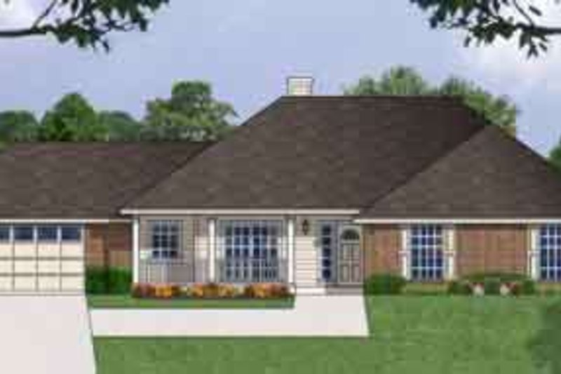 Traditional Exterior - Front Elevation Plan #40-335 - Houseplans.com