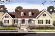 Dream House Plan - Country Exterior - Front Elevation Plan #46-781